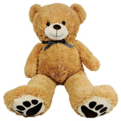Giant Teddy Bear - Big 100cm Size - Huge Stuffed Animals For Valentines Gifts For Kids Him Or Her
