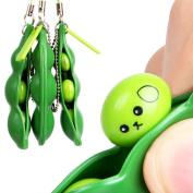 Sothread Fun Beans Squeeze Toys Pendants Anti Stressball Squeeze Funny Gadgets