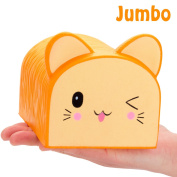 R • HORSE Jumbo Cute Cat Bread Kawaii Cream Scented Squishies Slow Rising Decompression Squeeze Toys for Kids or Stress Relief Toy Hop Props, Decorative Props Large