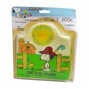 RARE Peanuts BABY SNOOPY & WOODSTOCK ON THE FARM Vinyl Squeaker Book No. 99973