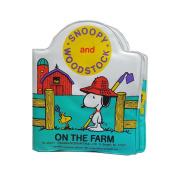 RARE Peanuts BABY SNOOPY & WOODSTOCK ON THE FARM Vinyl Squeaker Book No. 99970