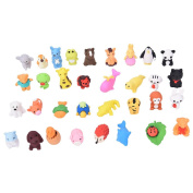 YIXUAN Packof 25 Pcs Animal Erasers DIY Toy Pencil Eraser for Kids ,Students ,Randomly Style