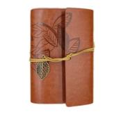 Cosanter Sketchbook Vintage Notebook Pocketbook Loose Leaf Leather Cover Travel Journal Gift