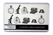 Robert Frederick Playing Card & Dice Set in A Flat Brushed Tin - Gentleman'S Emporium New, Assorted
