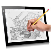 A4 Tracing Light Box,KINGCOO Ultra Thin Dimmable Brightness LED Artcraft Tracing Light Board Table Pad Light Box for Artists,Drawing, Sketching,Animation