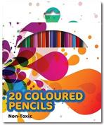 20 Colouring Colour Pencils School Art Crafts Travel Adult Colouring