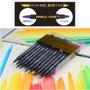 48 Colours Marker Brush Pen Dual Tip Premium Art Pens for Drawing Sketching Rendering Animatation Design, Fine and Brush Tip