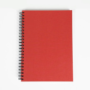 Red Cover Sketchbook A3 Portrait Spiral Wiro Semi-Hardback 40 Sheets All-Media Cartridge Paper - 150 Gsm FSC™ Ecological Cartridge Paper - Suitable for Pencils, Pens, Markers, Inks, Light Watercolour Washes, Gouache