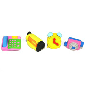 4 Kid's Novelty Erasers - Technology