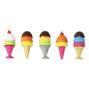 5 Kid's Novelty Build Erasers - Ice Cream Sundaes