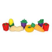 8 Kid's Novelty Erasers - Veggies