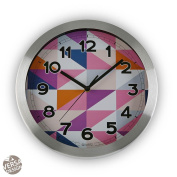 War San Martin Difusion. Versa 18560184 Clock – COC 30 x 30 x 5 cm Versa Alu MULTIC Geometrico 18560184