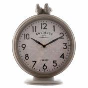 Clayre & Eef 6KL0361 Clock Grandfather Clock Birds Grey 20 X 7 X 25 cm