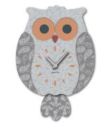 "Aracne Italy ""Pendulum OWL Clock Dark Grey"" 24x35 cm"