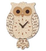 "Aracne Italy ""Pendulum OWL Clock Brown"" 24x35 cm"