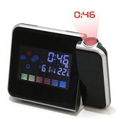 Bureze Digital LCD Time Projector Snooze Alarm Clock
