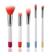UPXIANG 5 PCS Multifunctional Makeup Brush Kits Set, Concealer Eyeshadow Foundation Eyebrow Eyeliner Cosmetic Tool