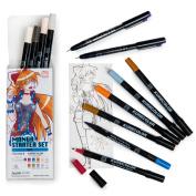 Japanese Manga 12 Pens Gift Set Girl