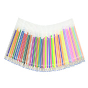 48pcs Colourful Gel Pen Refills for Adults Colouring Books Scrapbook Drawing Art Markers Replacement Refill