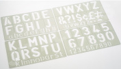 COX 50 mm ALPHABET LETTER, NUMBER & SIGN STENCILS 50 mm COX