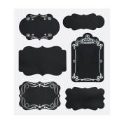 20 Assorted Reusable Ornate Chalk Board Black Sticker Labels for Jars Bottles