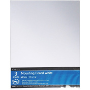 Crescent Cardboard Co White Mounting Board Value Pack -28cm x 36cm