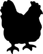 Securit Silhouette Chicken Wall Chalk Board - Black