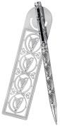 Pen & Bookmark Set with Celtic Harp Design