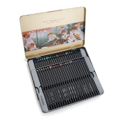 Lightwish 3200-48TN Art Painting Pencils 48 Coloured Set in Tin for Sketching Drawing Colouring
