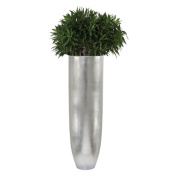 Diamond Home Oversized Silver Leaf Oval Indoor Planter