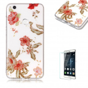 For Huawei P8 Lite(2017 Model) Sparkly Sequins soft TPU+IMD Case. Brilliant lovely Coloured Drawing Parttern Lightweight Ultra Slim Anti Scratch Transparent Soft Gel Silicone TPU Bumper Protective Case Cover Shell for Huawei P8 Lite(2017 Model) - Azalea