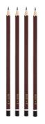 IDENA 20005 Pencil FSC100%, Pack of 4, B