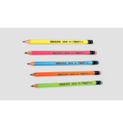 10 Doms Neon Rubber Tipped HB Graphite Pencils with a Free Sharpener