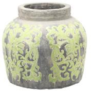 A & B Home Terracotta Jar, 34cm by 33cm