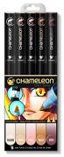 Chameleon 5 Pen Skin Tones Set by Chameleon Pens