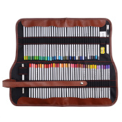 Marco Raffine 7100 72 Art Coloured Pencils with Roll UP Canvas Pouch Package for Adult Colouring Books Drawing Writing Sketching and Doodling Designs and Creativity Colourful Blessings Cards