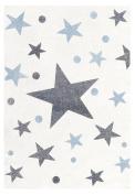 Kids rug Happy Rugs STARS creme/grey-blue 100x160cm