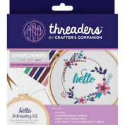 Crafter's Companion Threaders Embroidery Craft Gift Kit - Hello