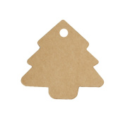 Lumanuby 100 Label Christmas Tree Kraft Paper Tags Pendants Labels DIY Decoration Wedding Party Label Price Tags Signs Bags Gift Tags Label