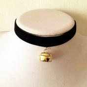 Sweet Lovely Anime Lolita Choker Necklace Golden bell