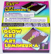 LED Mini Glow Art Board & Pegs, Travel Friendly
