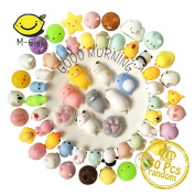 Mochi Squishy Toys, M-Gigi Kawaii Squishys 30 Pcs Mini Squishies Mochi Animals Stress Toys Panda Squishy Cat Stress Reliever Anxiety Toys PLUS BONUS Stickers Come With the Squishys For Children Adults