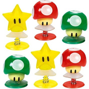 Amscan Super Mario Brothers Birthday Party Mushrooms & Star Pop-Up Toy Favours, Multicolor, 3.2cm