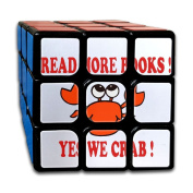 Read More Books Crab Rubiks Cube 3x3 Brain Training Game Rubix Puzzle Toy For Juniors Or Adult