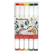 Basic Colours Professional, Alcohol Based, Colouring Markers, 5 Basic Colours ideal for the Johanna Basford Colouring Canvas Range.