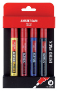 Talens Amsterdam All Acrylic Marker Starter Set, 6 by 4mm