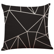 Ronamick Vintage Black & White Cotton Linen Throw Pillow Case Cushion Cover Home Decor L