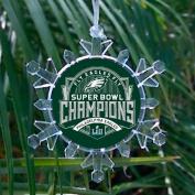 Philadelphia Eagles Super Bowl Champions Snowflake blinking lights Holiday Christmas Tree Ornament