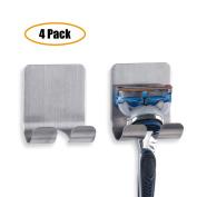 Razor Holder Plug Holder Hook with Self Adhesive - Brushed Stainless Steel