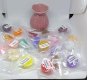 Mini Pink Oil Burner & 20 Assorted Mini Wax Melts